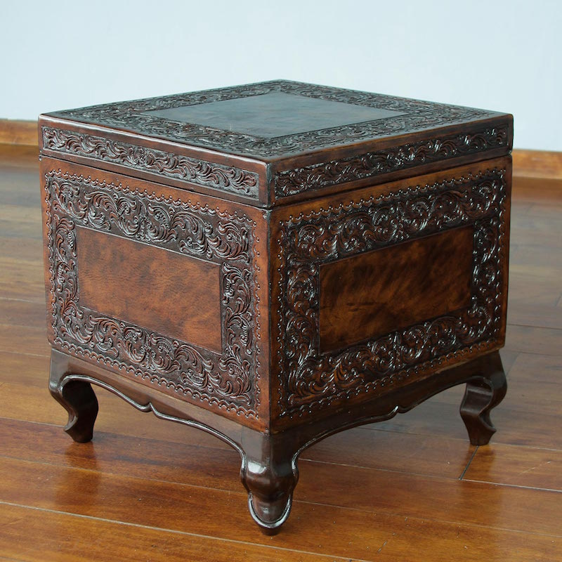 mohena-wood-and-leather-accent-table-tradition