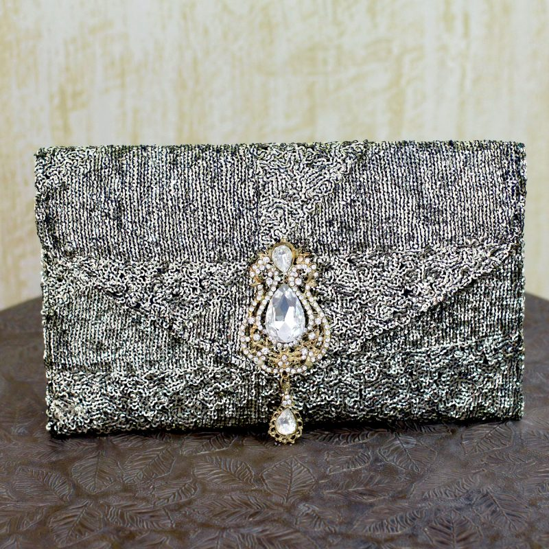Sequined clutch evening bag Maharani