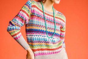 Alpaca Art Knit Pullover from Peru, 'Fiesta in Ica'