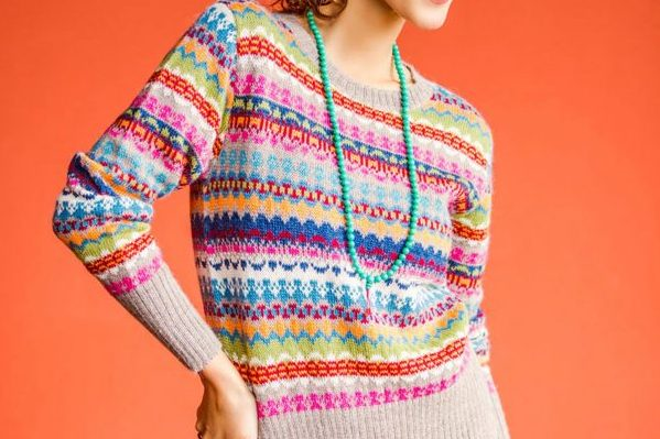 Alpaca Art Knit Pullover from Peru, 'Fiesta in Ica'