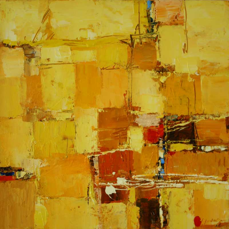 Abstract Painting from Indonesia Prosperity I Original Fine Art NOVICA Fair trade
