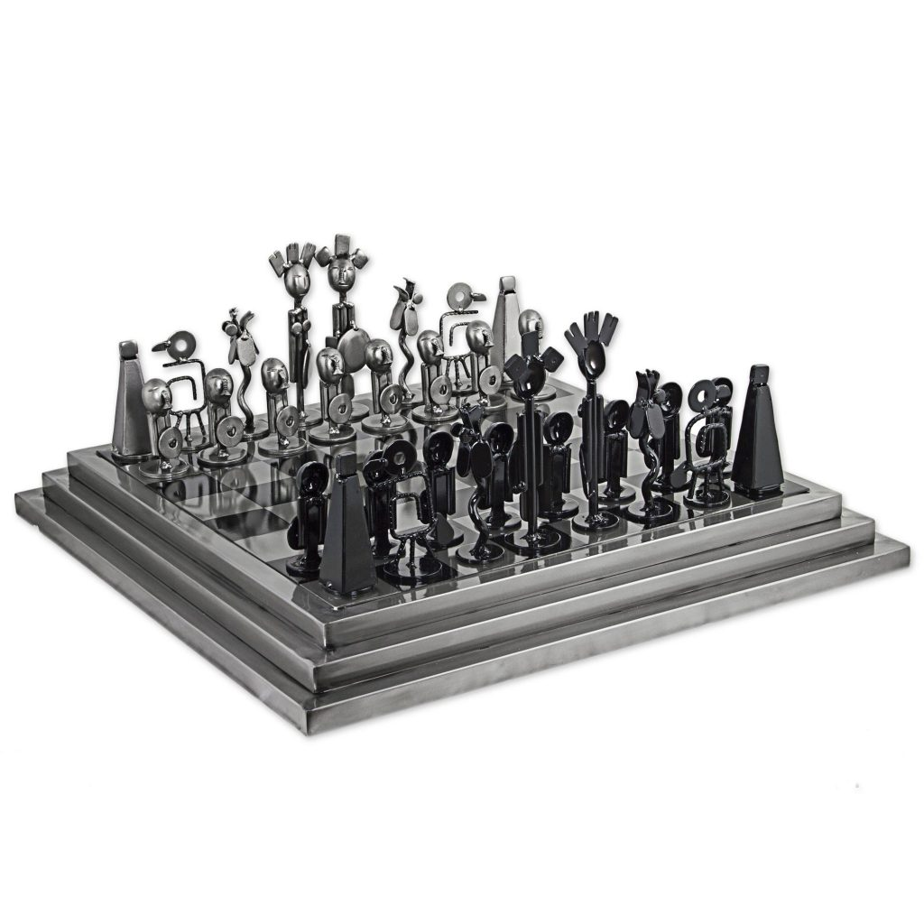 Steel Chess Set Chess Sets And Games That Add Style To Your Home