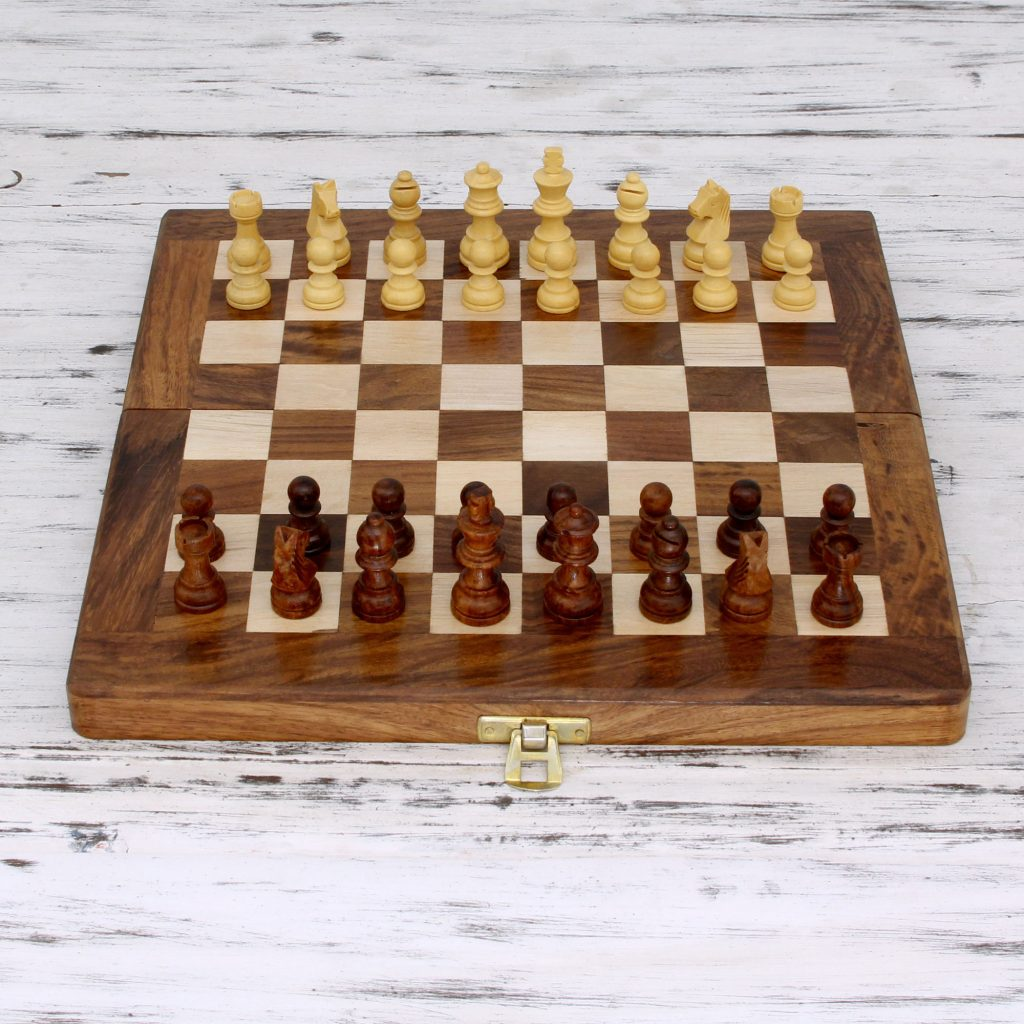 Wood Chess Set, U0027Game Of The Intellectu0027 Hand Carved Artisan Made NOVICA