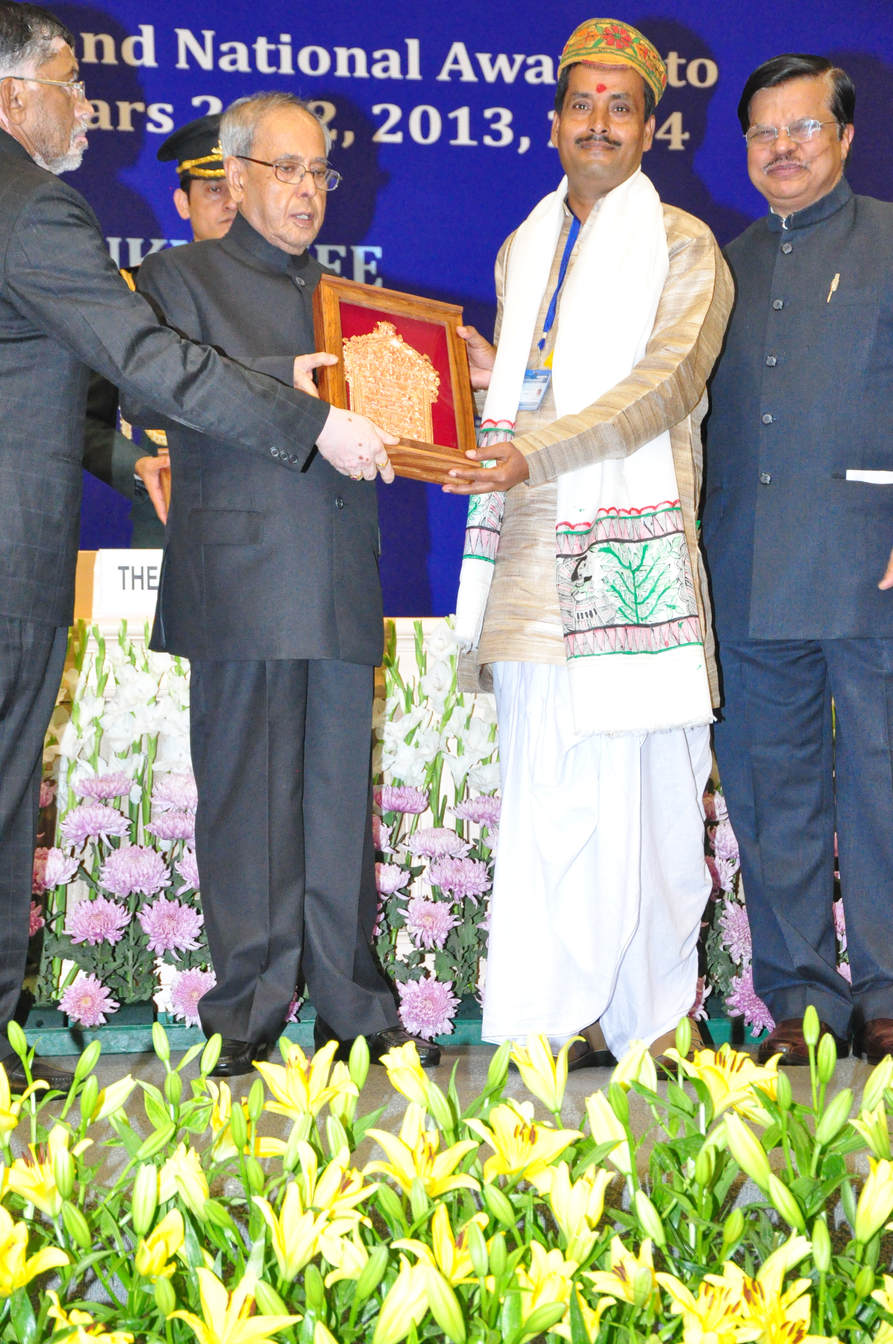 Devendra Kumar Jha receives National Award by president of India