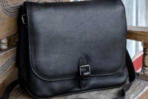 Leather briefcase, 'Executive Elegance'