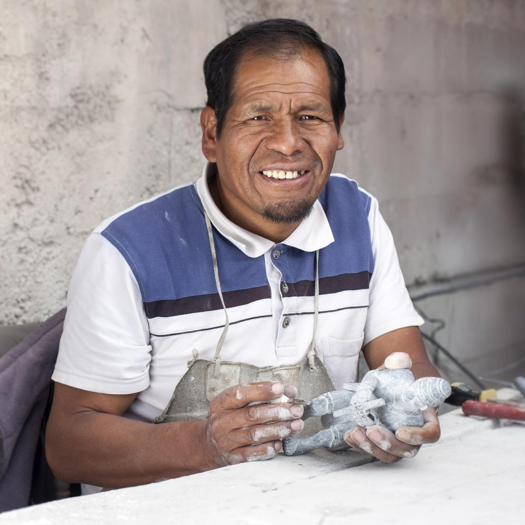 Dionicio Atau Peruvian Andean Andes Stone Carver descended from Inca Warriors