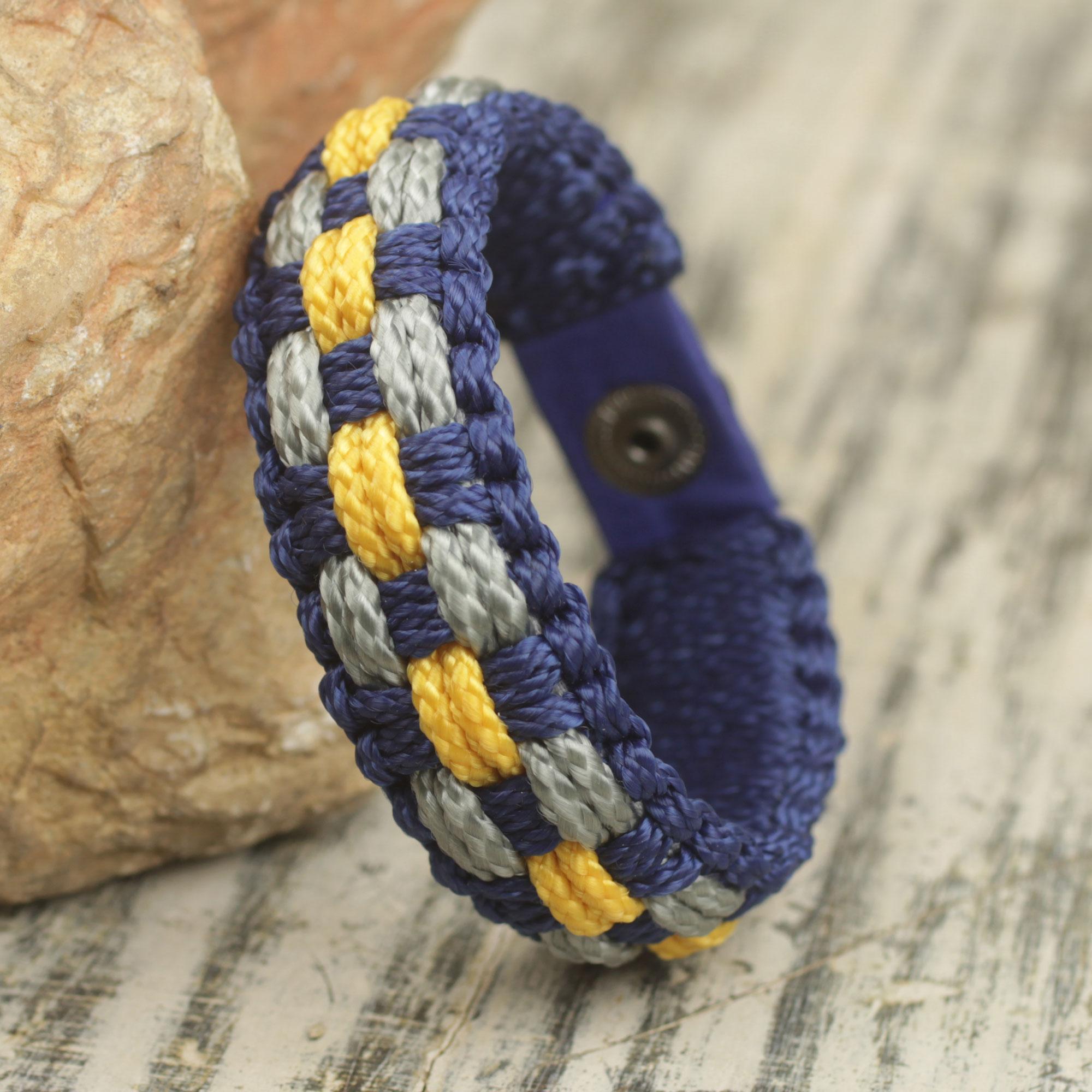 High Expectations Colorful Men's Bracelet Woven from Polypropylene Cords Nautical men's bracelets, men bracelet