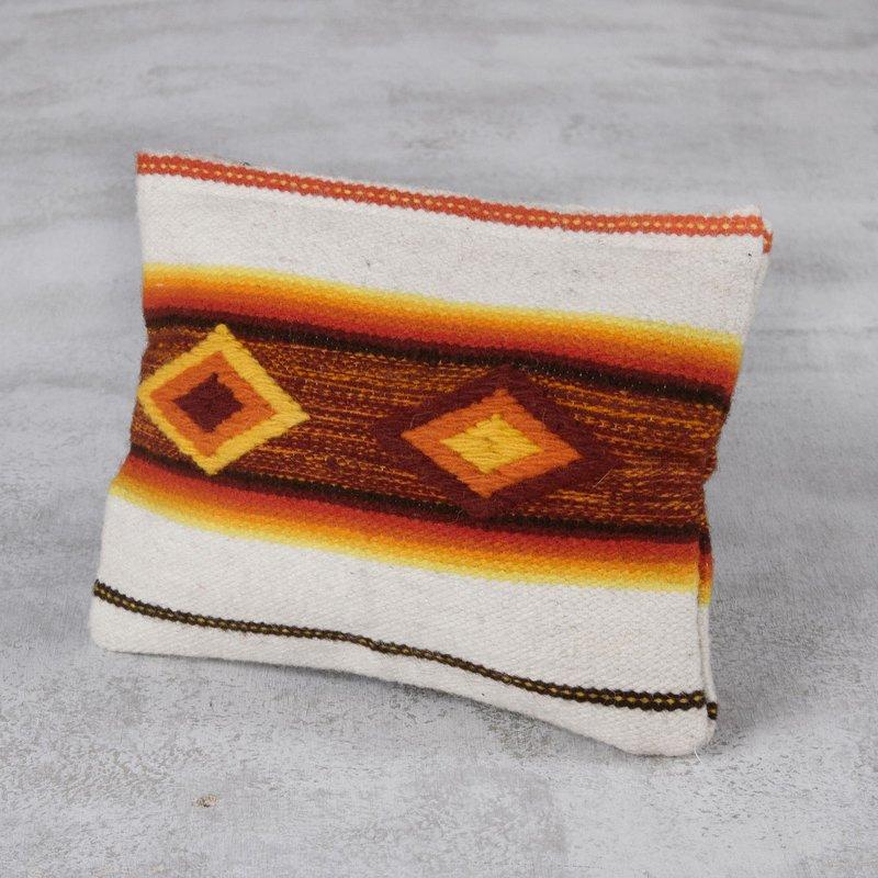Multicolor Woven 100% Wool Cosmetic Bag from Peru, Inca empire Inca Inspiration Clothing Art Decor