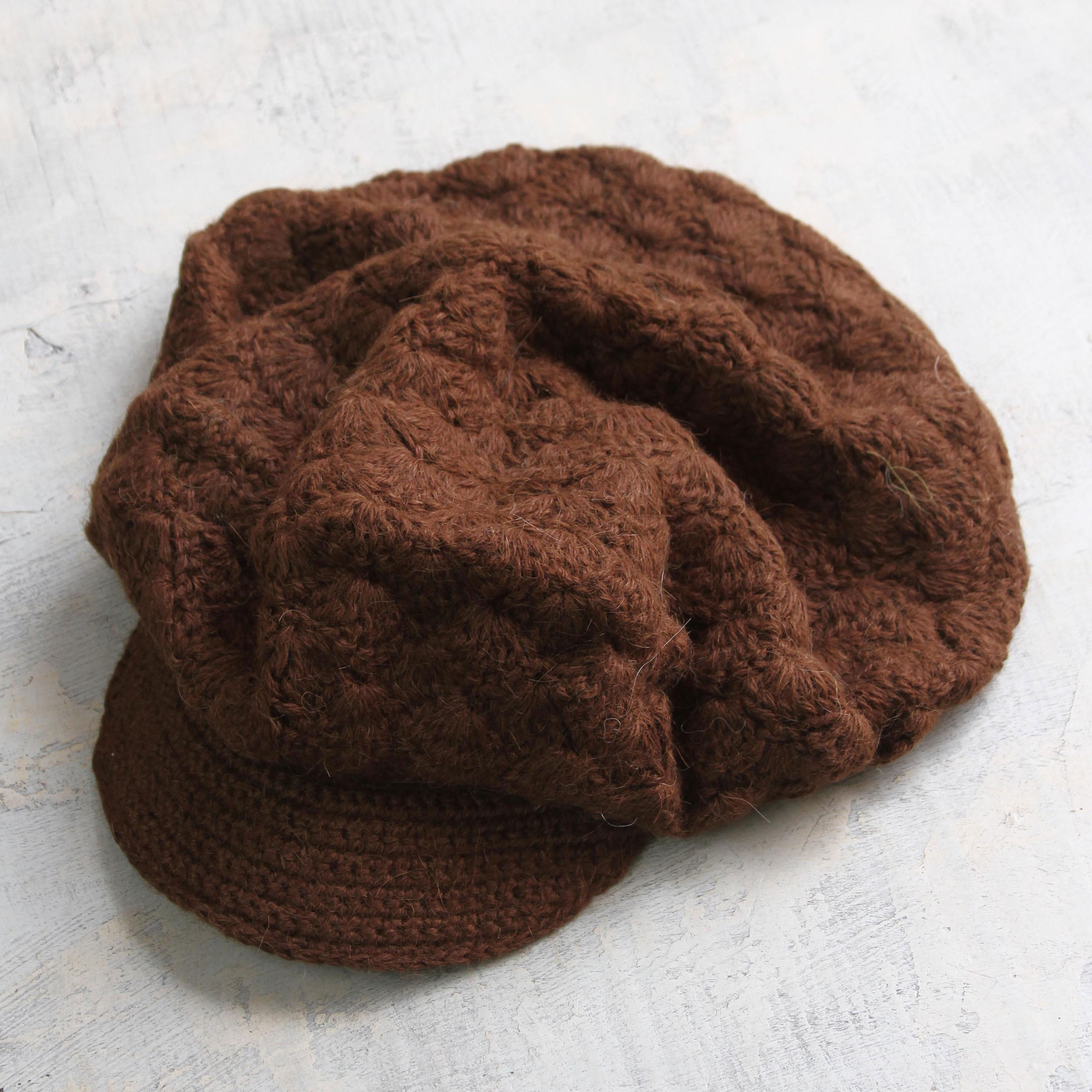 Cinnamon Cap Artisan Crafted Alpaca Wool Cap with brim handmade stay cool and keep warm Stylish & Practical Winter Accessories