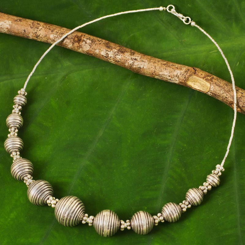 Karen World 950 Silver Necklace Karen Hill Tribe Style Thai Hill Tribe Jewelry