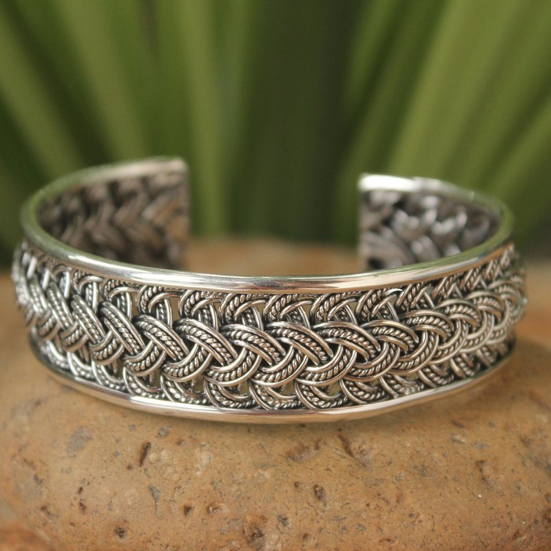 Hill Tribe Sterling Silver Cuff Bracelet Thai hill tribe jewelry Hill Tribe Paths Thai Hill Tribe Jewelry