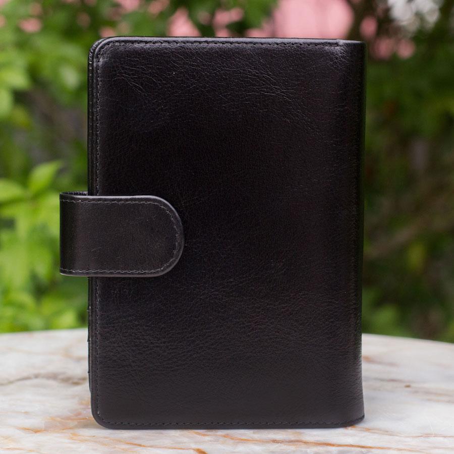 Deep Black Voyages Leather Passport Holder International wallet Men's Travel Gifts