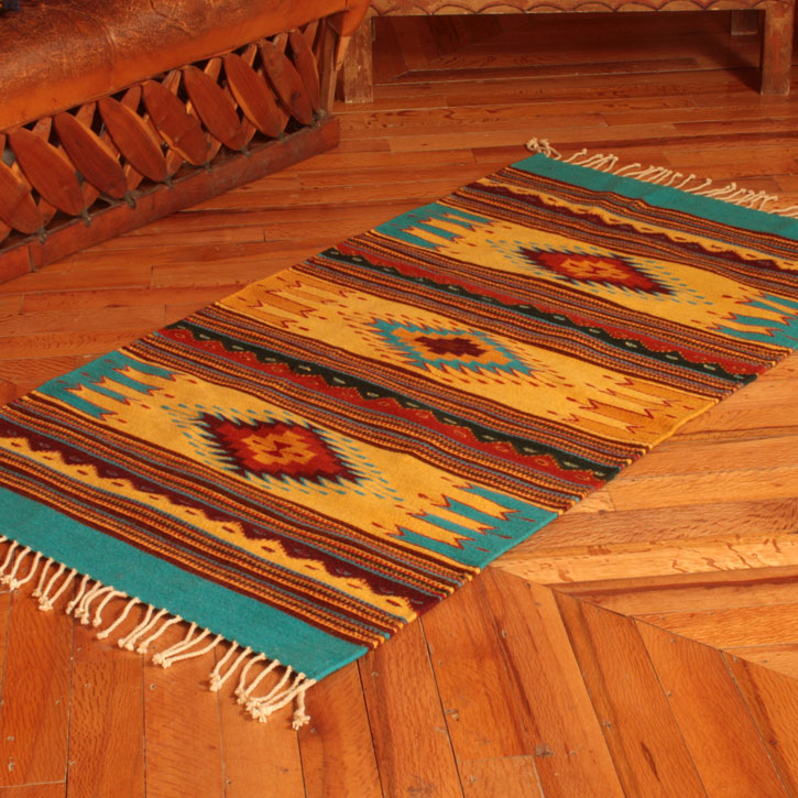 Summer Sky Mexican Zapotec Area Rug handwoven rugs latin america
