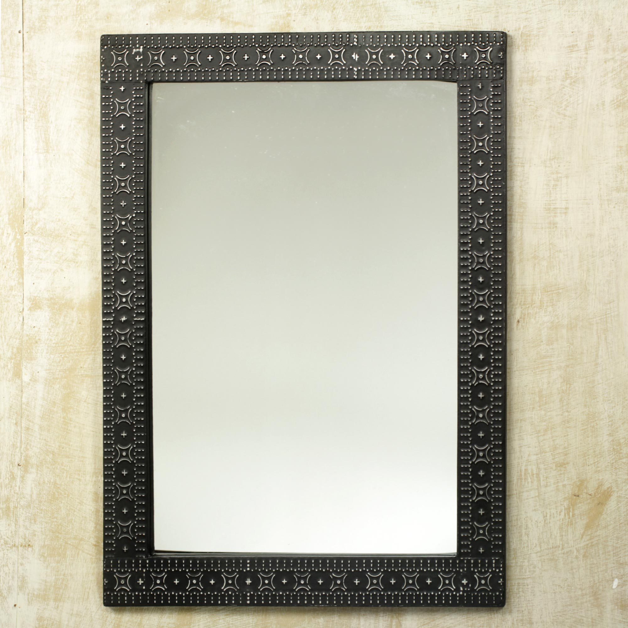 Contemporary Wood and Aluminum Mirror hand crafted, 'African Princess' Decorating a Small Space with Mirrors