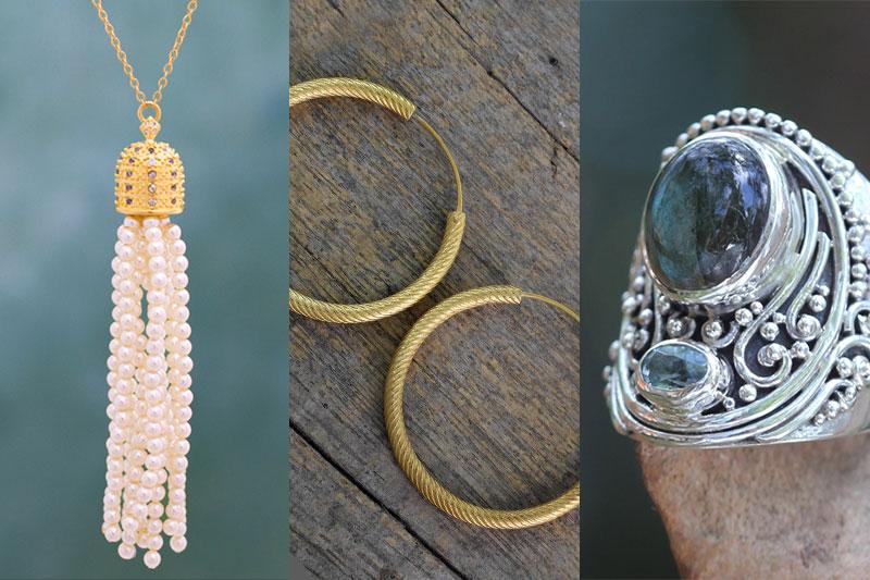jewelry Trends Tassel necklace good hoop earrings ornate silver ring