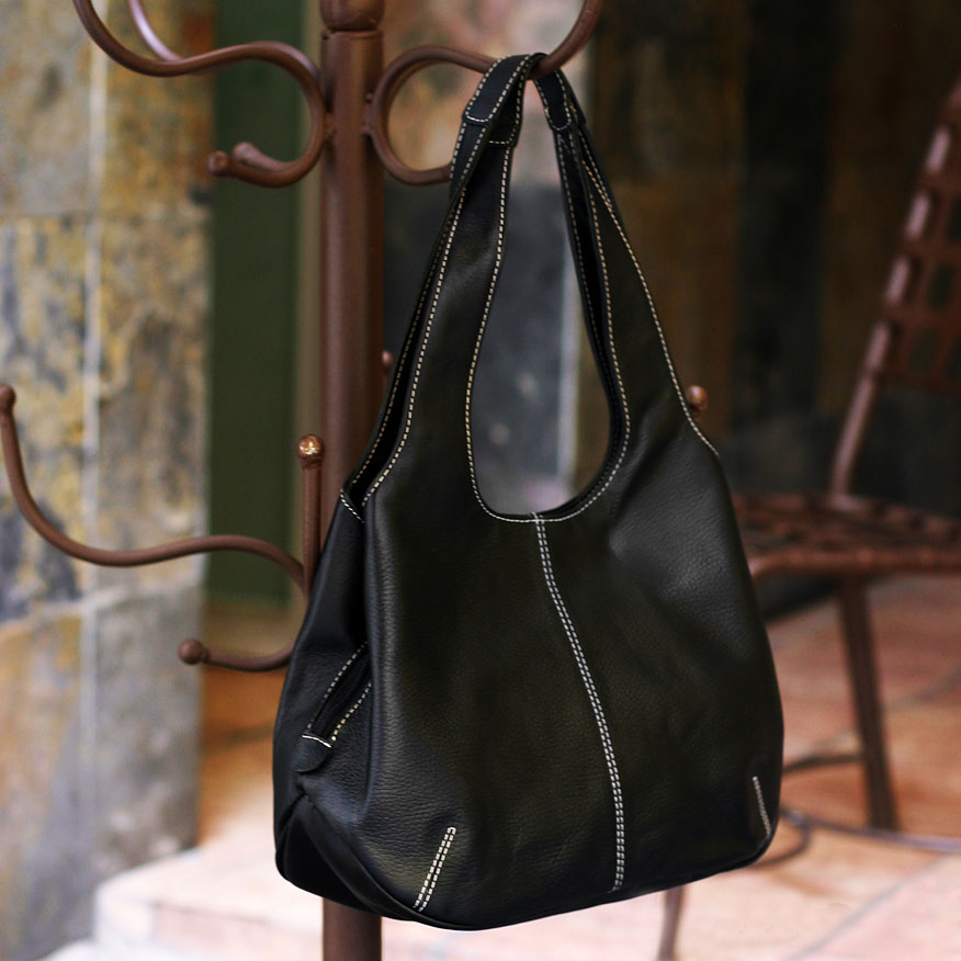 bags, leather bags, handbag Urban Legend Leather shoulder bag Fine leather black shoulder bag tote bag memorable gifts