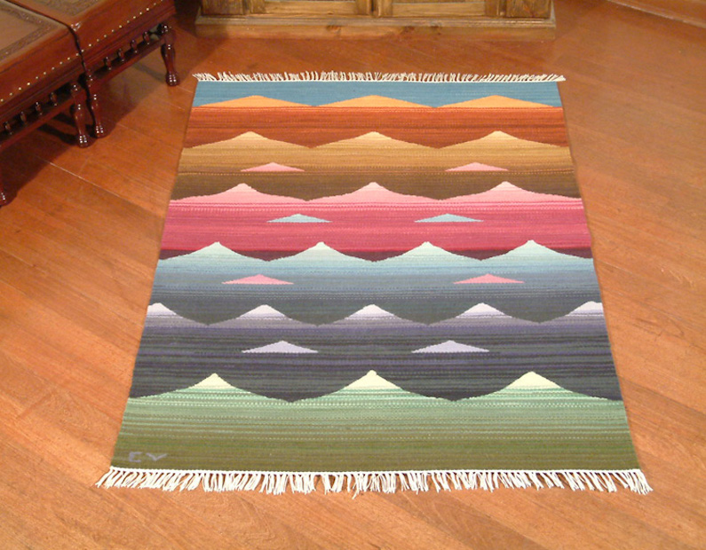 Sunrise Hand Woven Wool Area Rug from Peru (4x5) Pairing Area Rugs