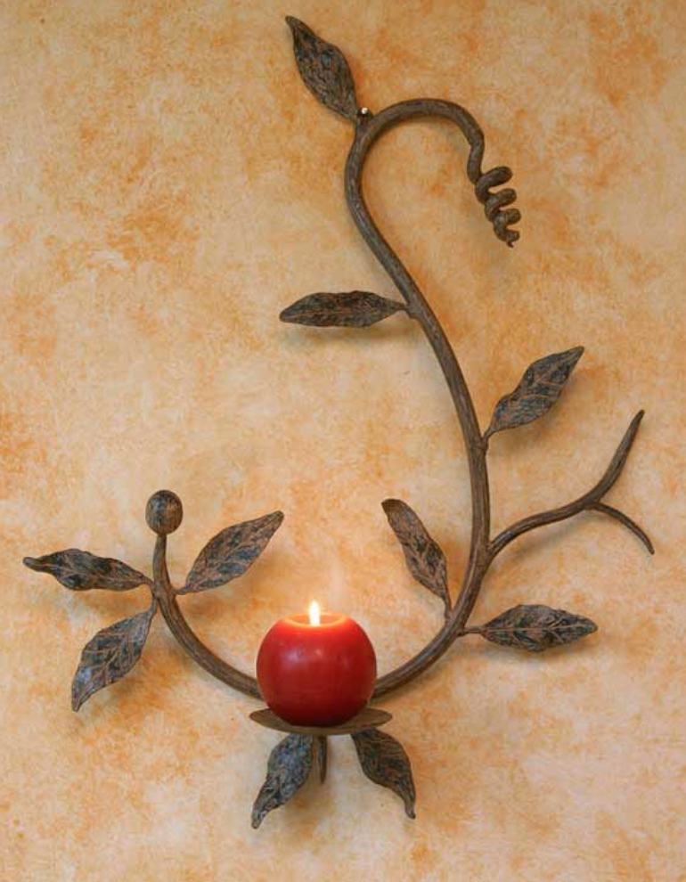 Forest Vine Wrought Iron Candle Holder wall lamp lamps and lighting