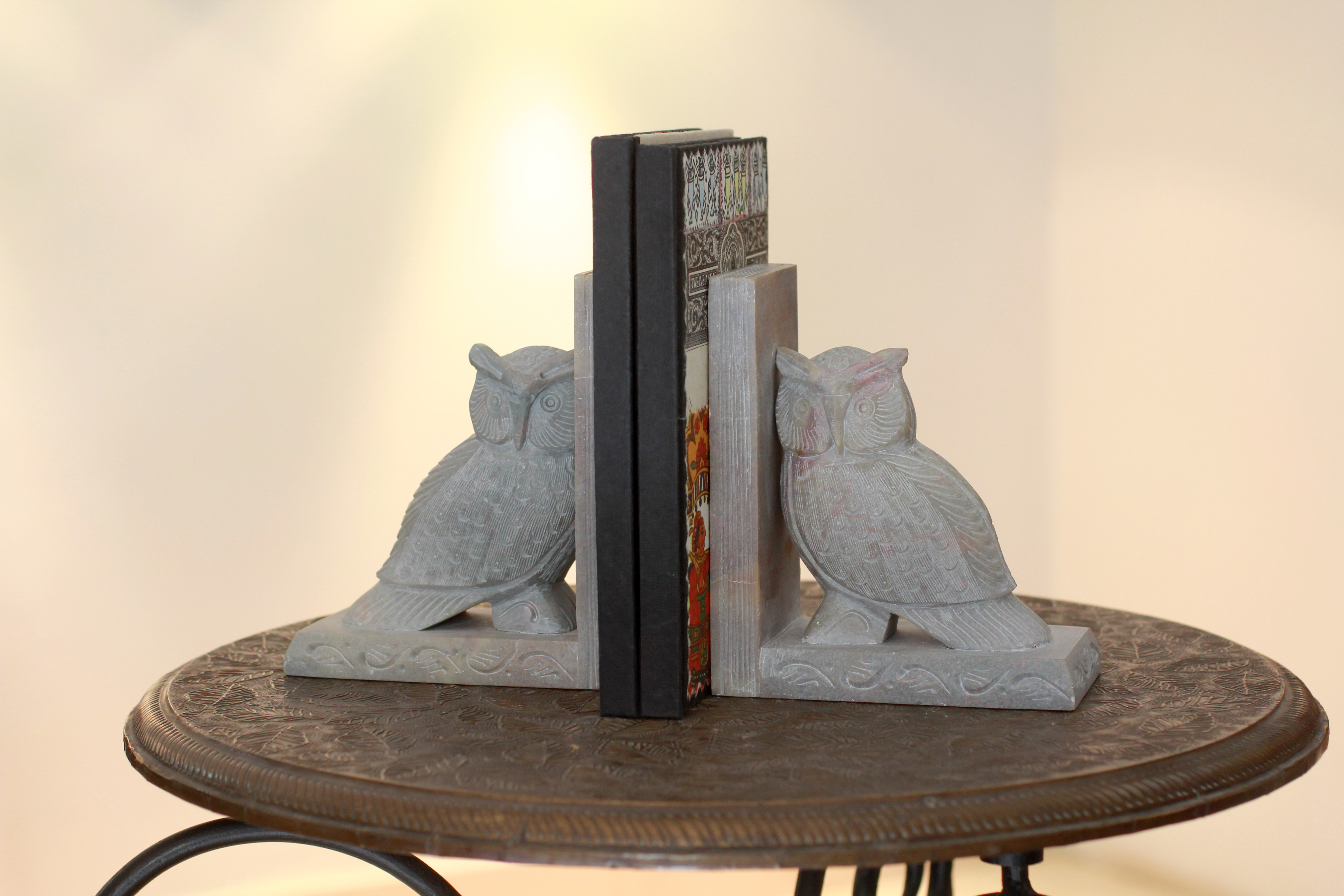 Wisdom Hand Carved Soapstone Owl Bookends (Pair) Wedding Gifts Galore