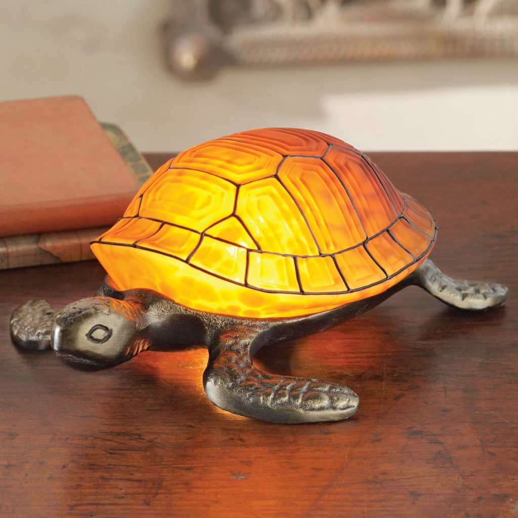 Turtle Glow Art Nouveau-inspired Turtle Lamp Lamp lamps and lighting