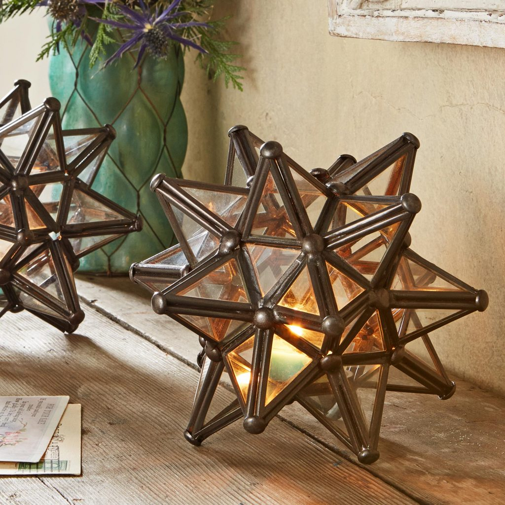 Star of Mexico Mexican Star Tealight Candle Holder lamps and lighting
