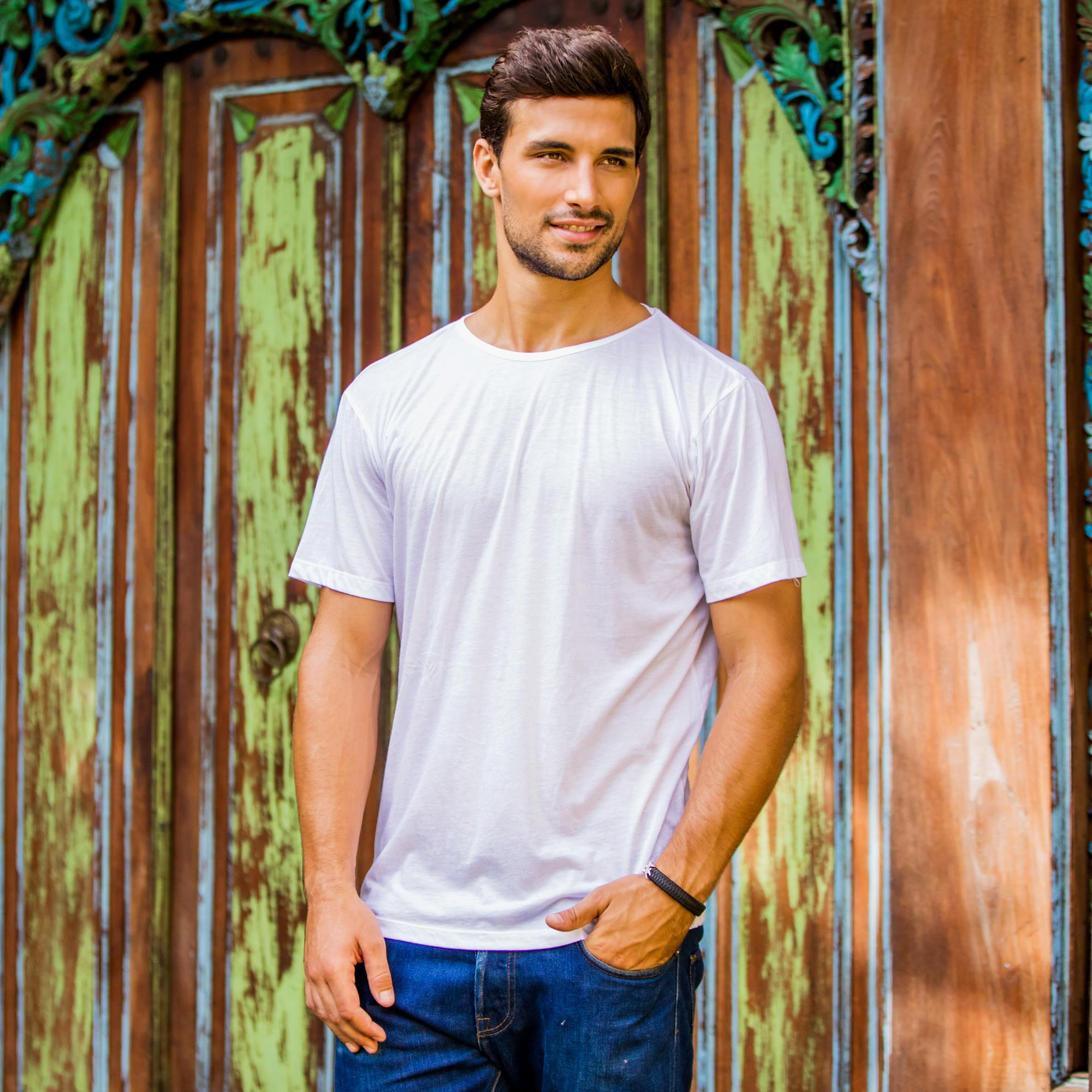 White All Cotton Jersey Founder's T-shirt for Men Holiday Gifts Gift Ideas Under $25 on a Budget