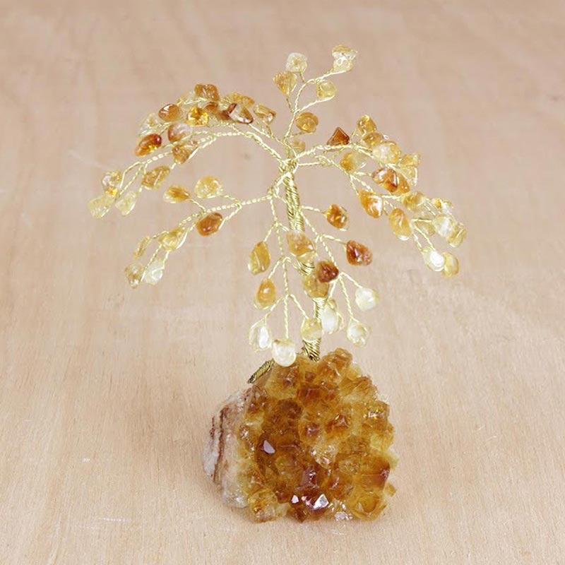 Gemstone tree, 'Citrine Blossoms hand crafted art sculpture November's birthstone citrine