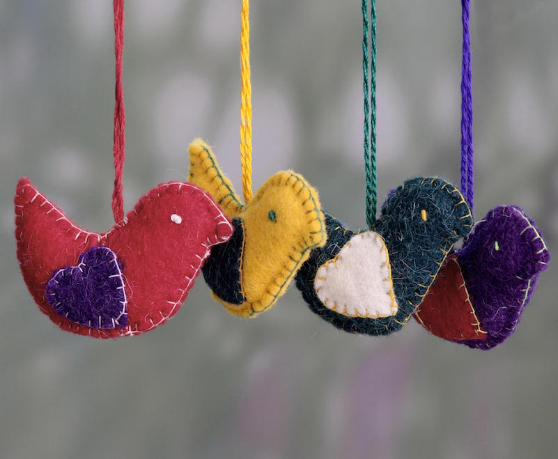 Messengers of peace doves, budget gift, holiday ornaments Holiday Gift Ideas on a Budget