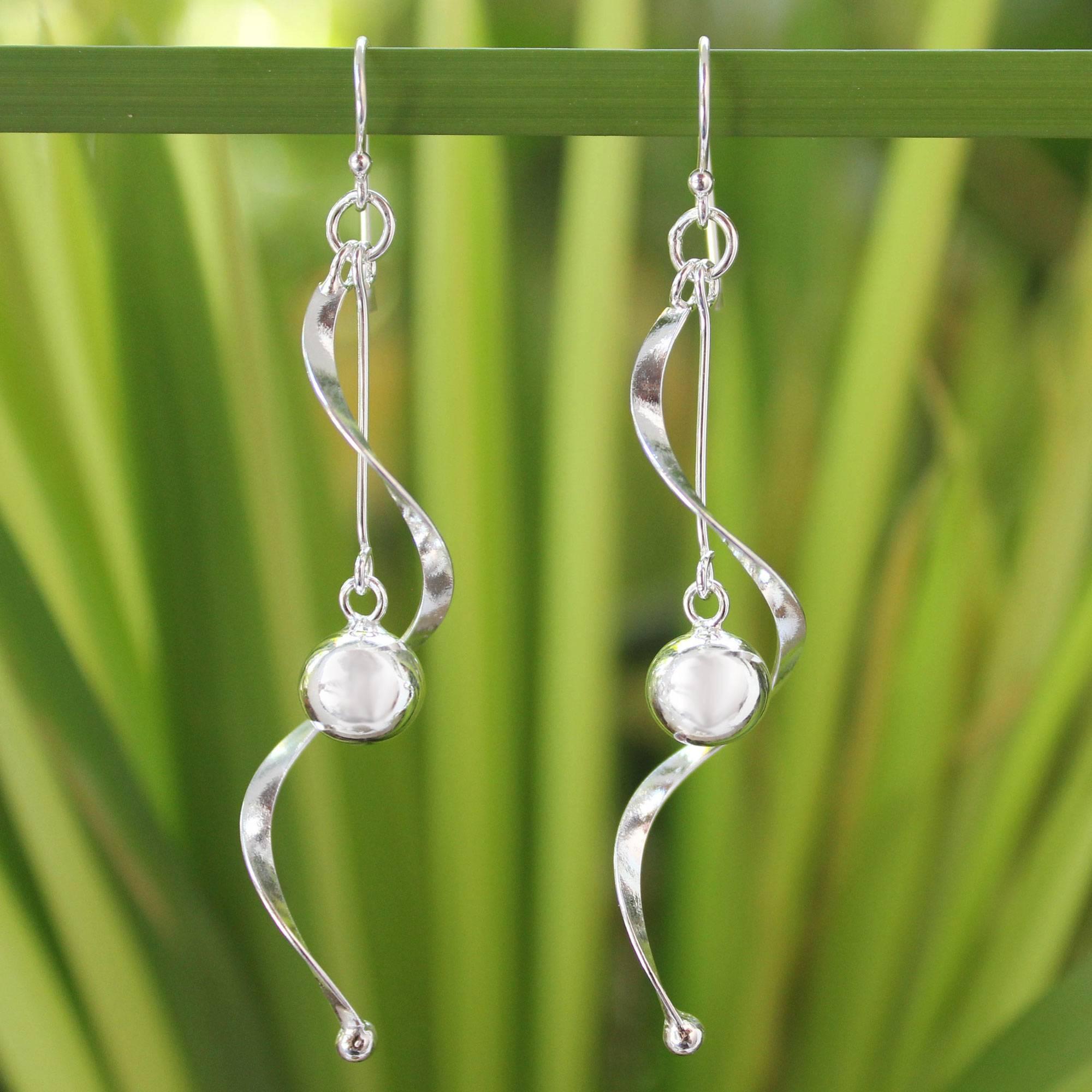Movement Modern Sterling Silver Dangle Earrings Breathtaking Sterling Silver Jewelry