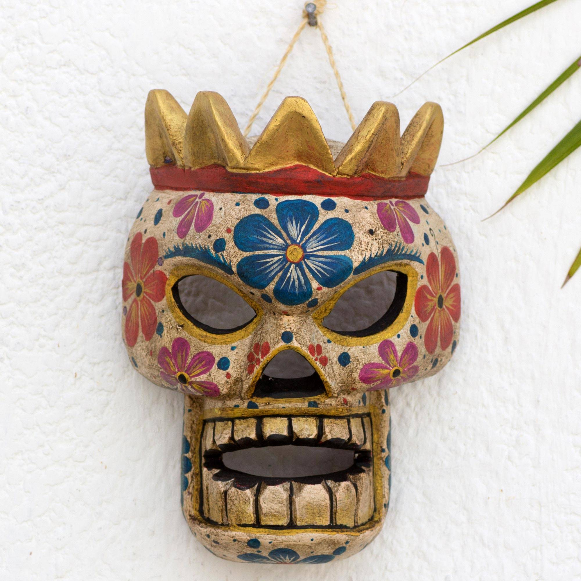 Skeleton King Guatemalan Day of the Dead Skeleton Pinewood Mask Decorating with masks