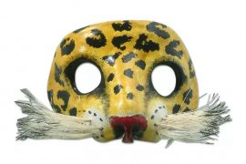 Spotted Jaguar Unique Leather Cat Mask Mask Wall Art Decorating with Masks