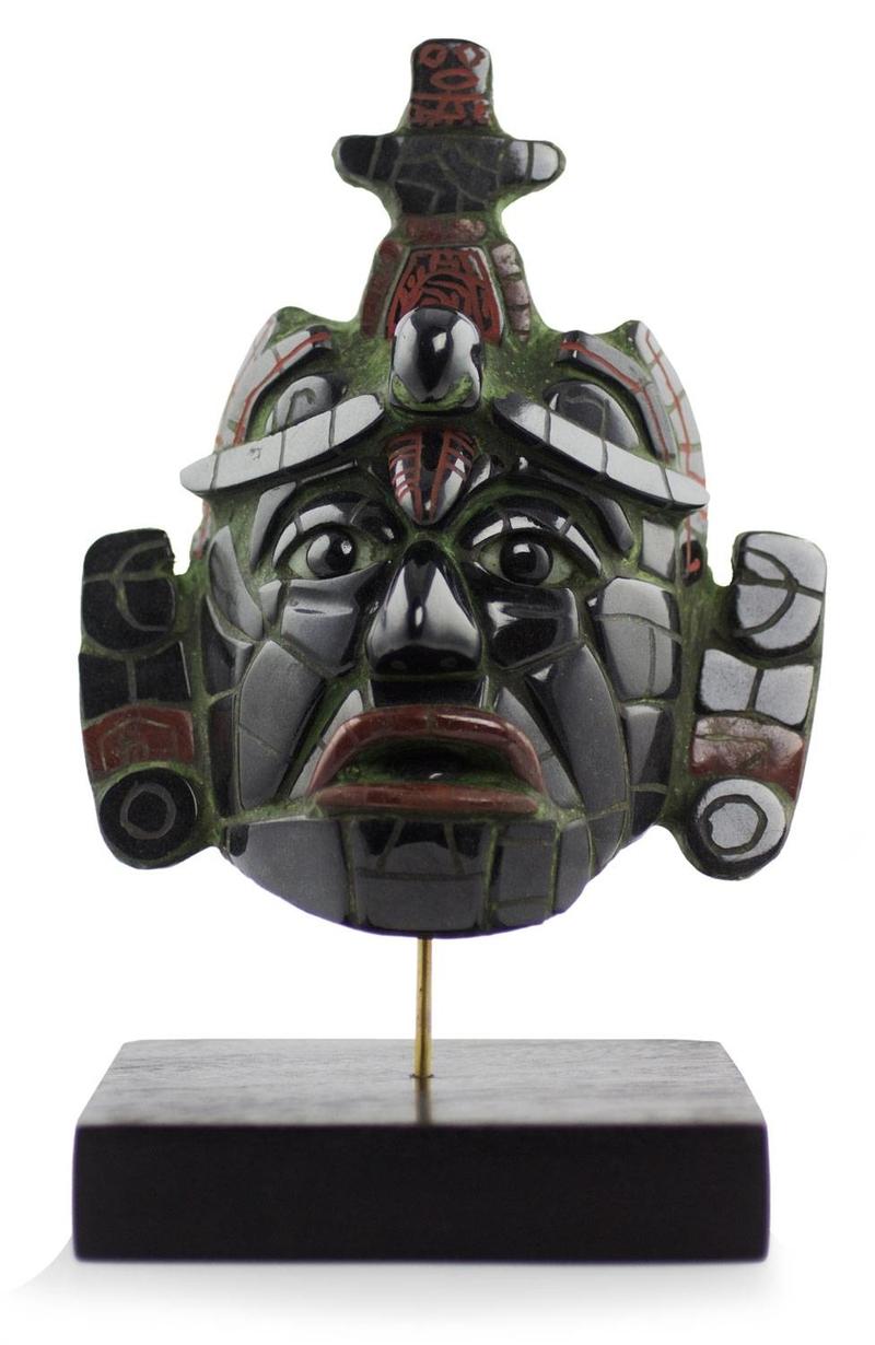 Classic Maya Replica Jade Mask from Tikal Jade: the magical gemstone