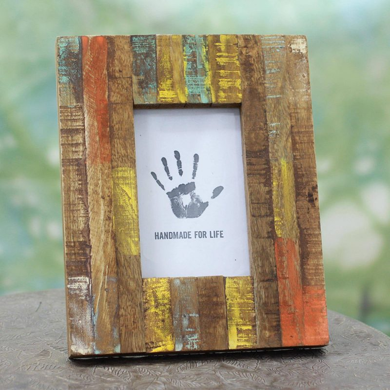 Making Memories Painted Reclaimed Mango Wood Photo Frame (4x6) small gift