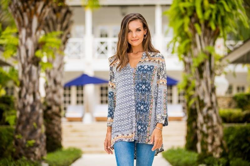Haveli Arabesque Long Sleeved Rayon Blend Travel Shirt Patchwork Style