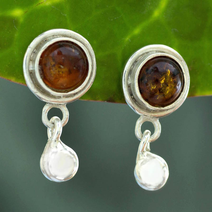amber drop earrings, amber, silver, gold, earrings, sterling silver amber dangle earrings, golden amber sun drop