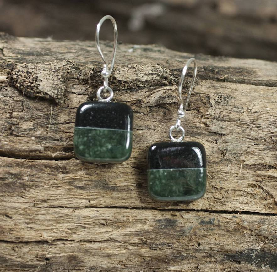 Duality Fair Trade Sterling Silver Jade Dangle Earrings Gilda and Ruben Never Give Up