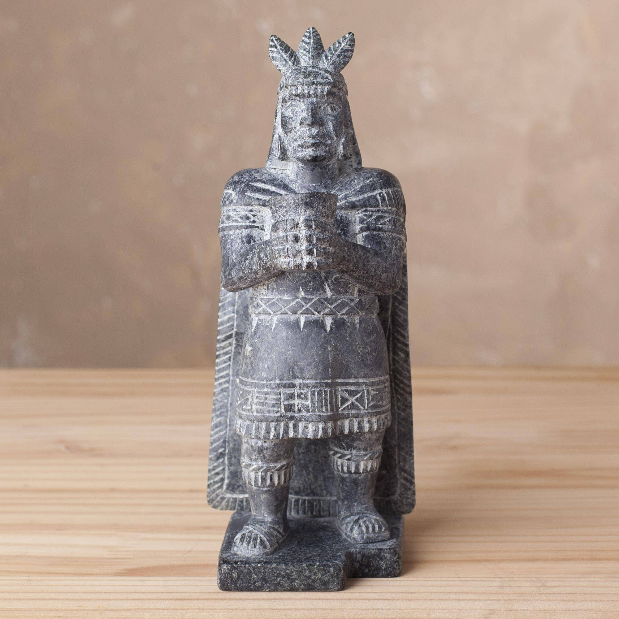 Inca Offering Cultural Serpentine Stone Inca Sculpture from Peru Peru's Inti Raymi Festival