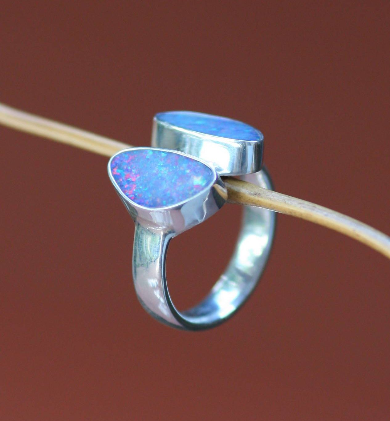 Never Apart Modern Sterling Silver and Opal Ring What are birthstones