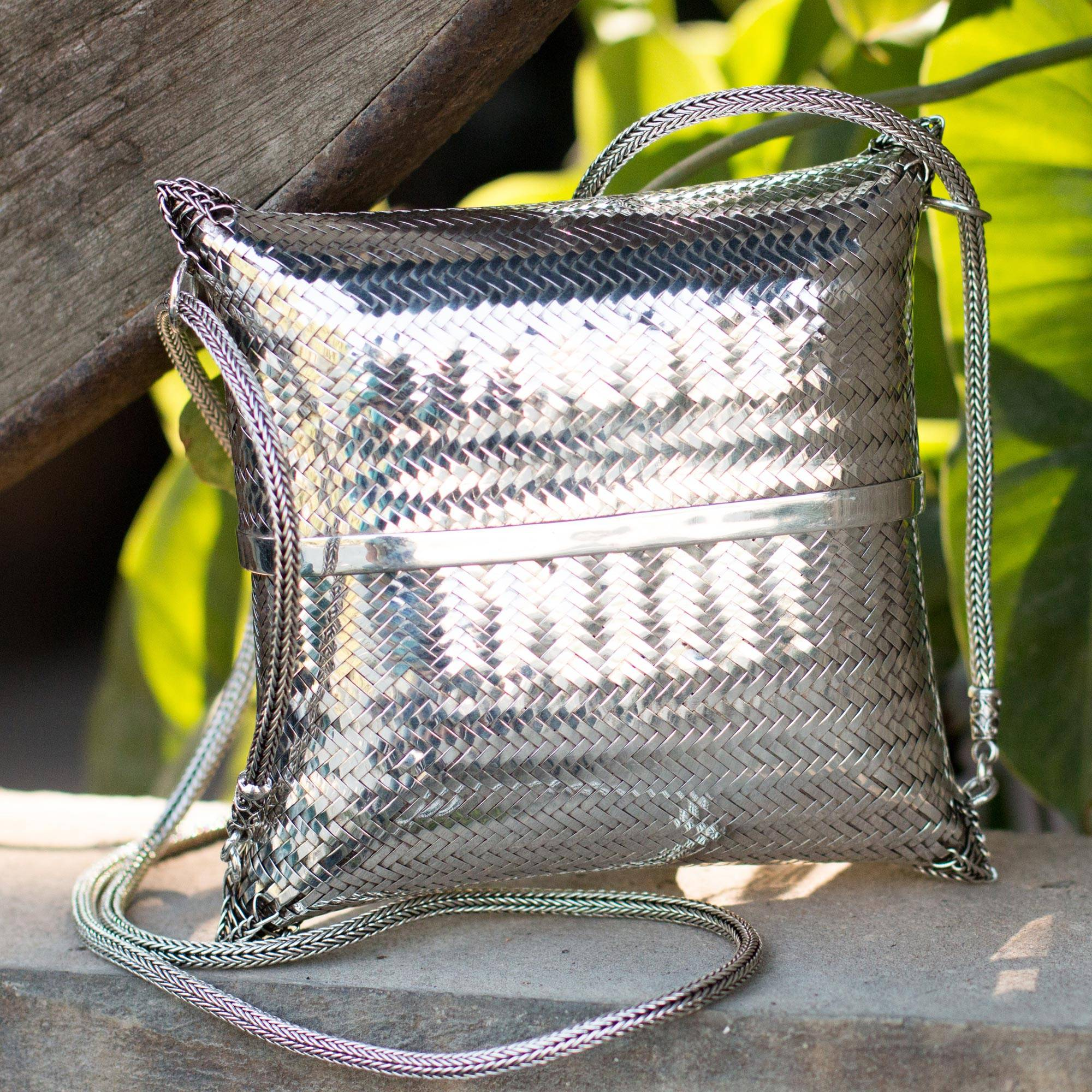 Thai Weavings Silver Plated Petite Woven Shoulder Bag Why Sterling Silver Jewelry Makes Me Happy