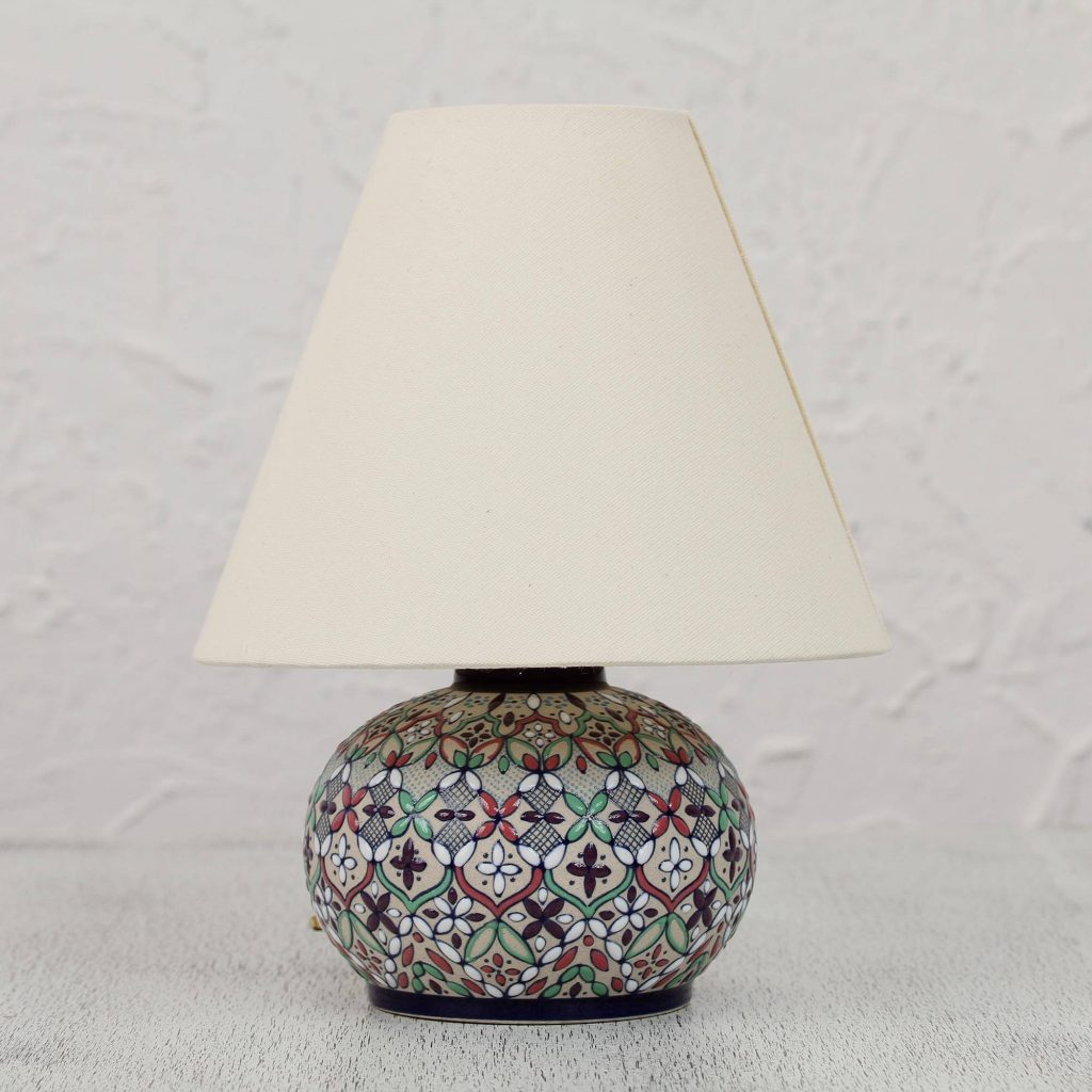 Guanajuato Wildflowers Colorful Ceramic Table Lamp and Shade Handcrafted in Mexico Making a New House Feel Like Home