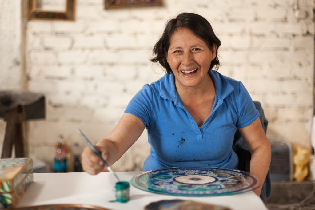 This Peruvian Artisan Found Something That No Self-help Book Could Offer.