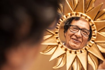 """Reflections of a soul that adopts life,"" A portrait of mirror artisan, Marcos Luzalde"