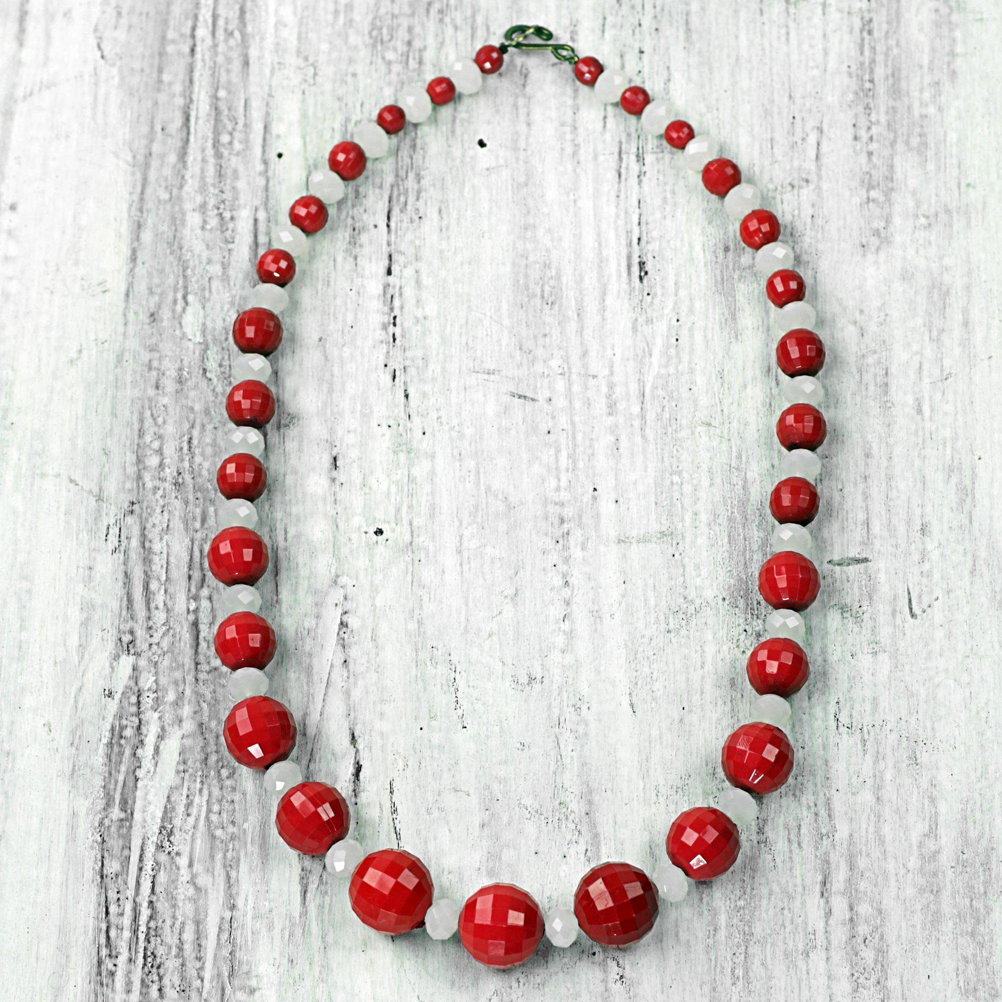 Mystical Aura Hand Crafted Recycled Plastic Beaded Necklace a love story