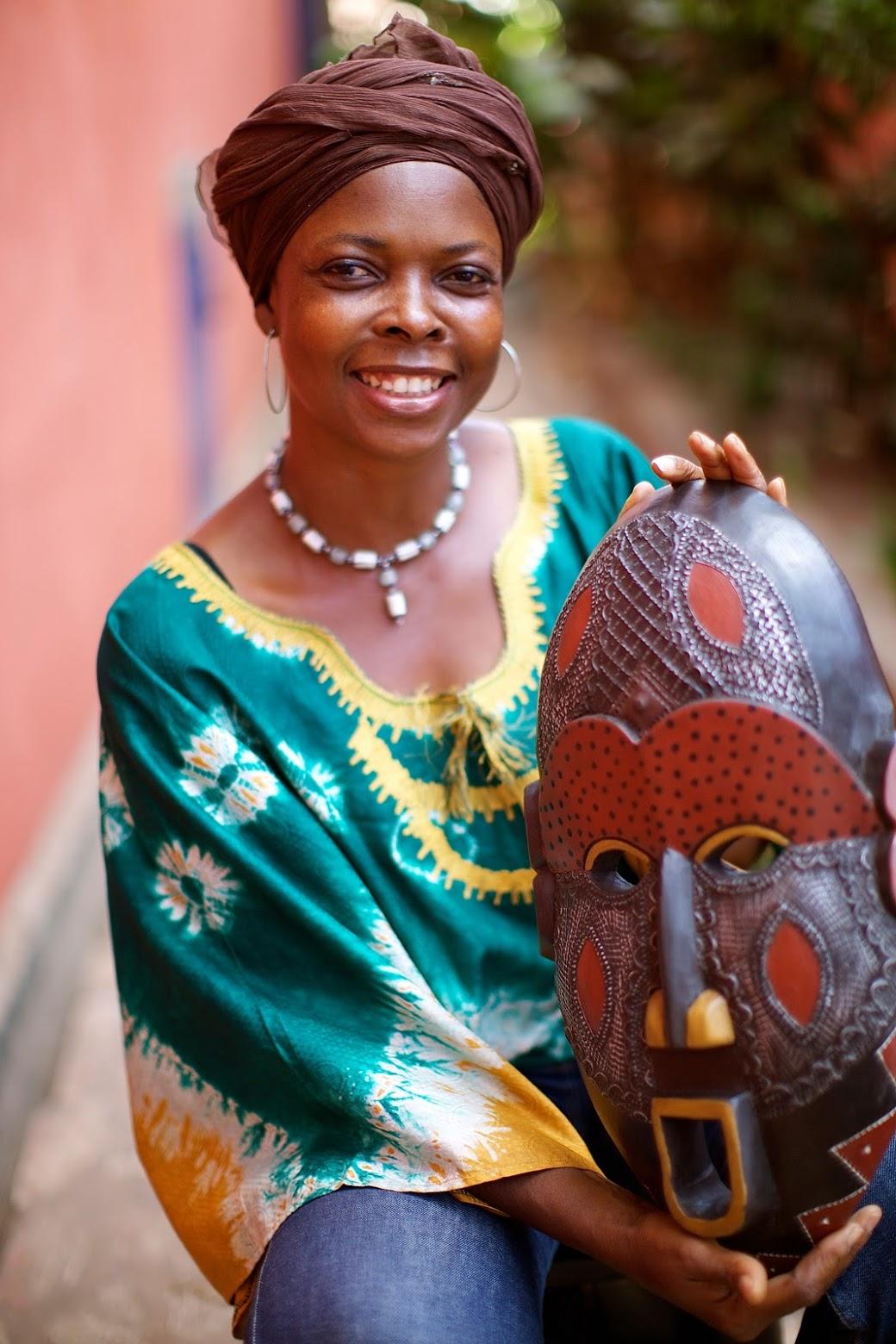 Dan Comic Fair Trade Ivory Coast Wood Mask
