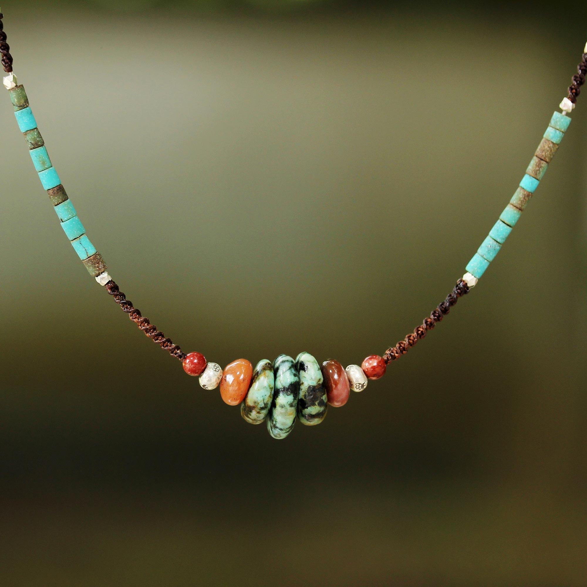 Bohemian Harmony Fair Trade Multi Gemstone Beaded Necklace