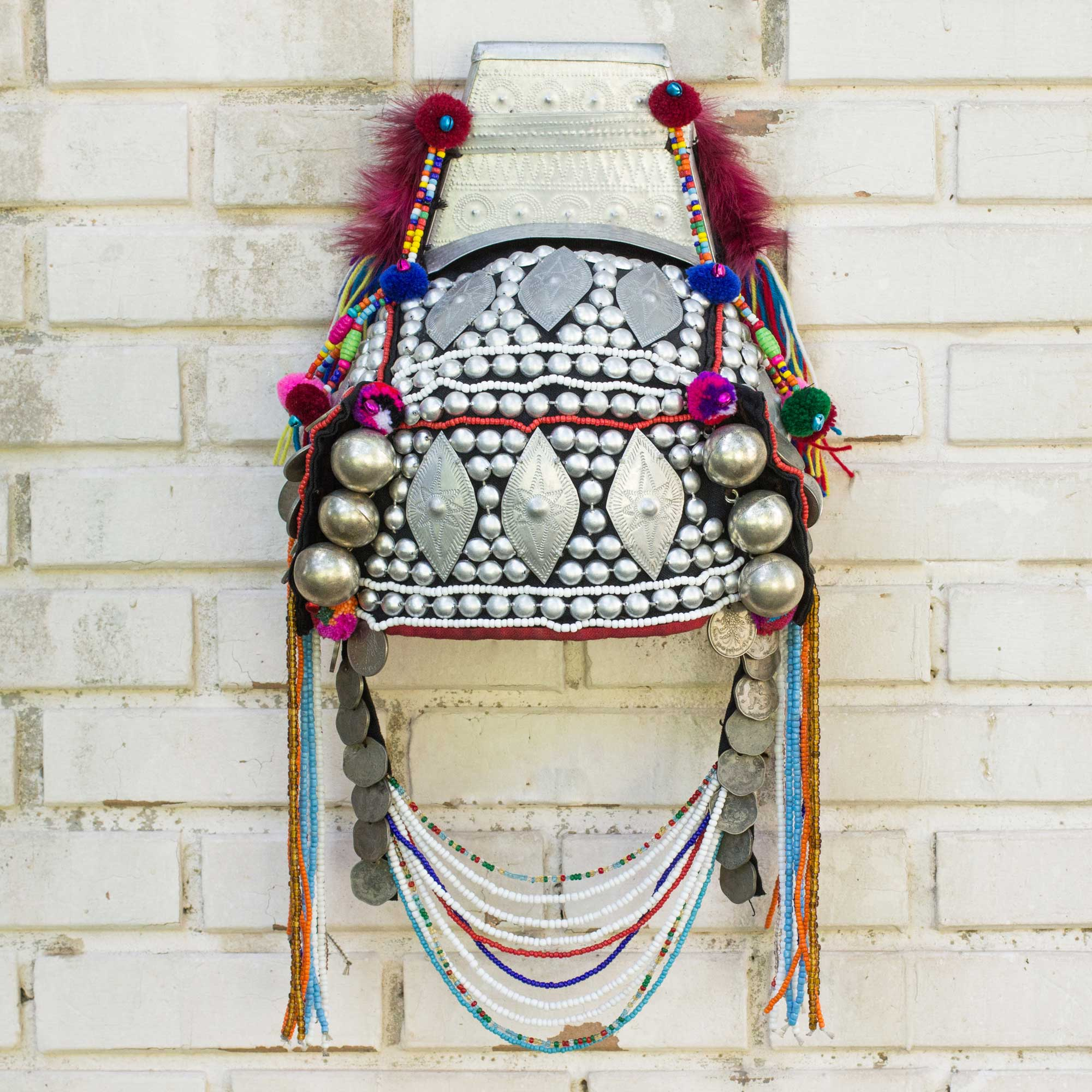 Timeless Muse I Decorative Beaded Head Dress Thai Akha Hill Tribe