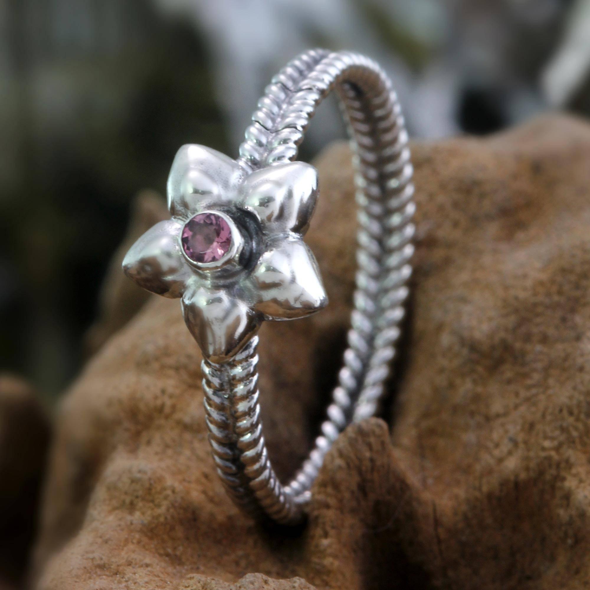 Pink tourmaline ring, 'October Marigold' Tourmaline, The Unknown October Birthstone