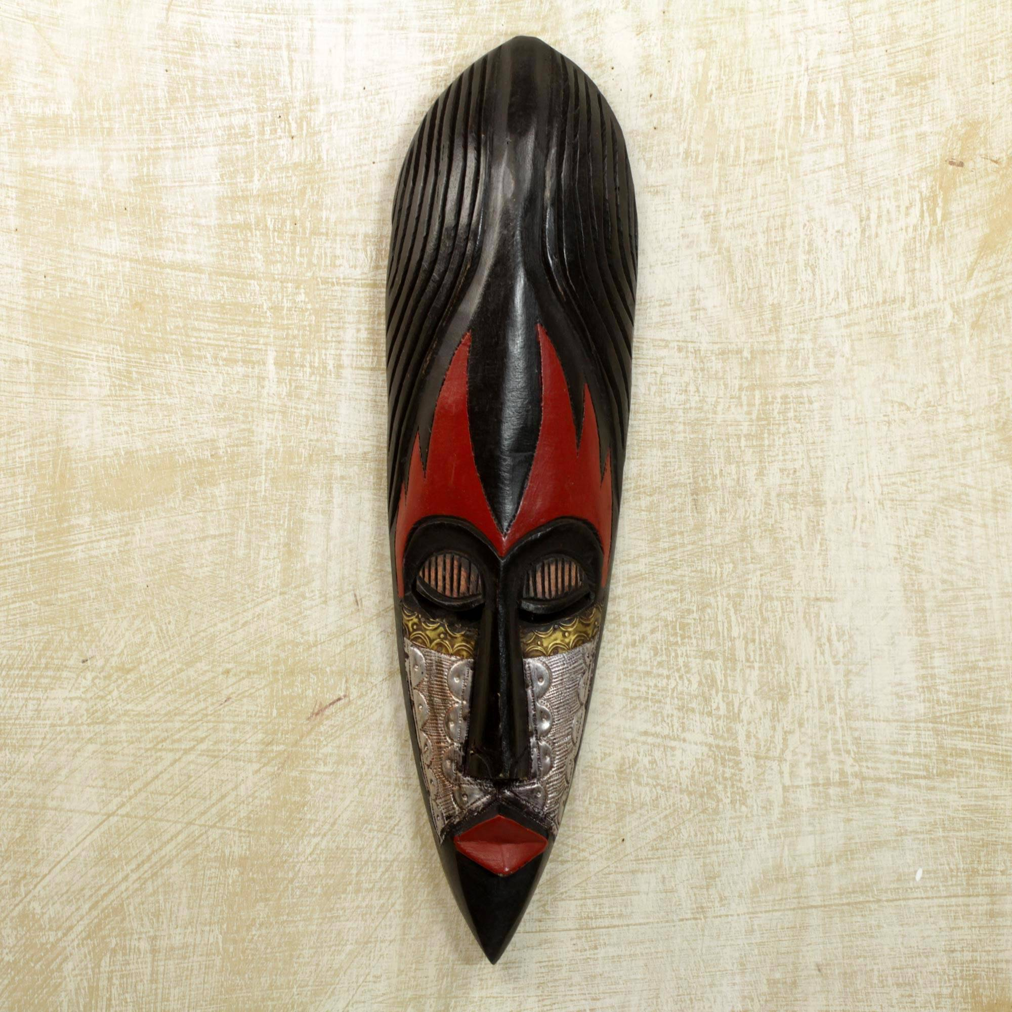 Fulani Maiden' Hand Carved Nigerian Wood Mask Wall Art In Your Home