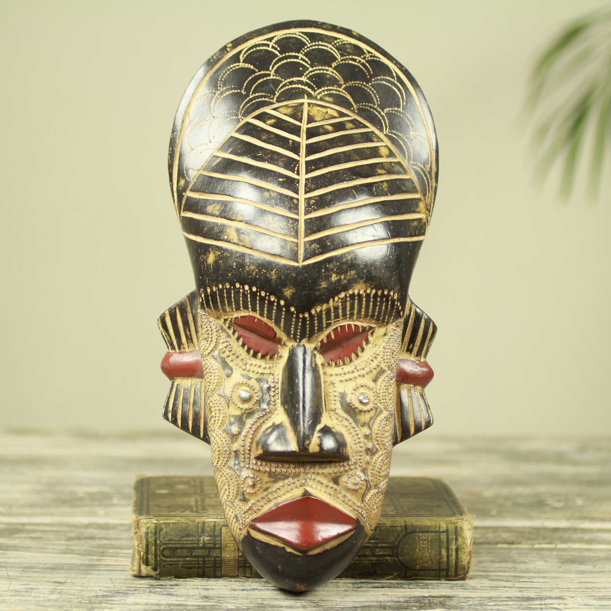 My Heart Hand Carved and Crafted Original African Mask