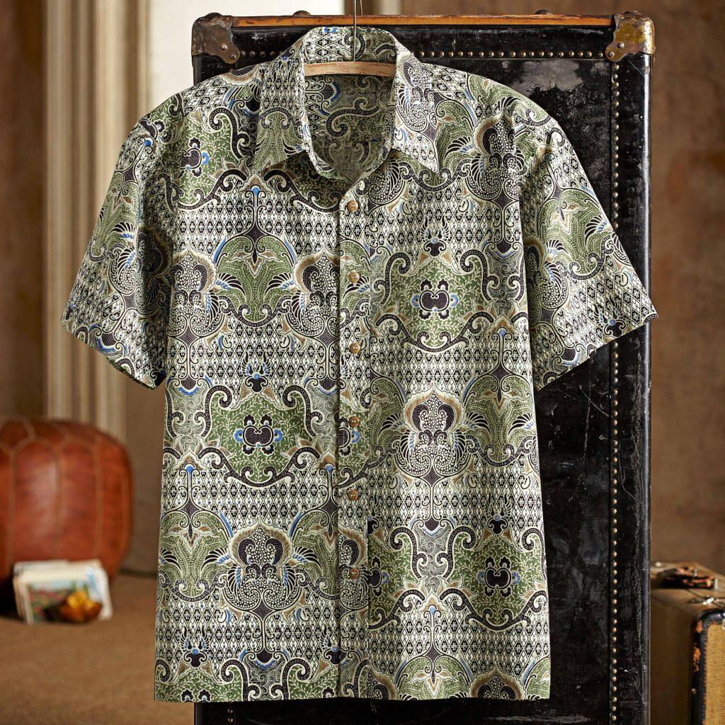 """Shekhawati Cotton Shirt Short Sleeves, """"Shekhawati Palace"""""""